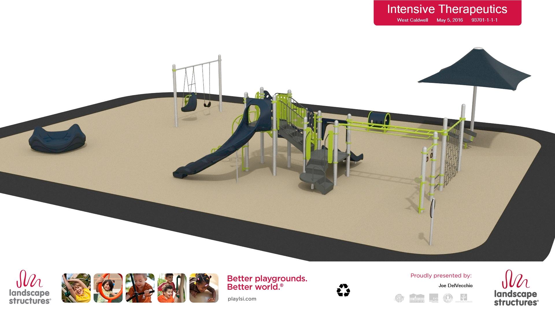 Computer rendering of new playground